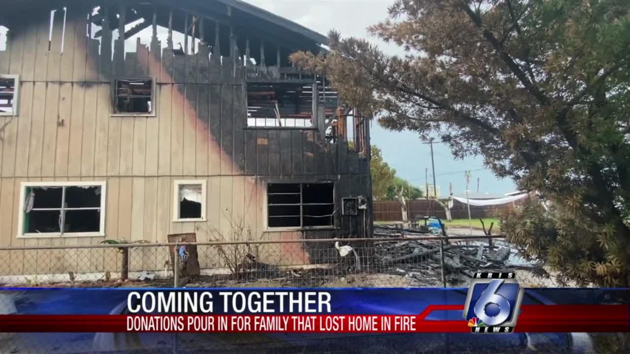 Donations pour in for family that lost home in fire