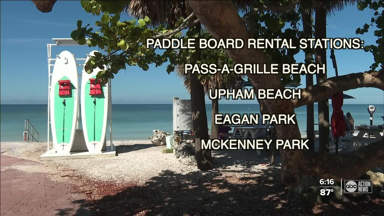 St. Pete Beach adds new paddle board rental stations