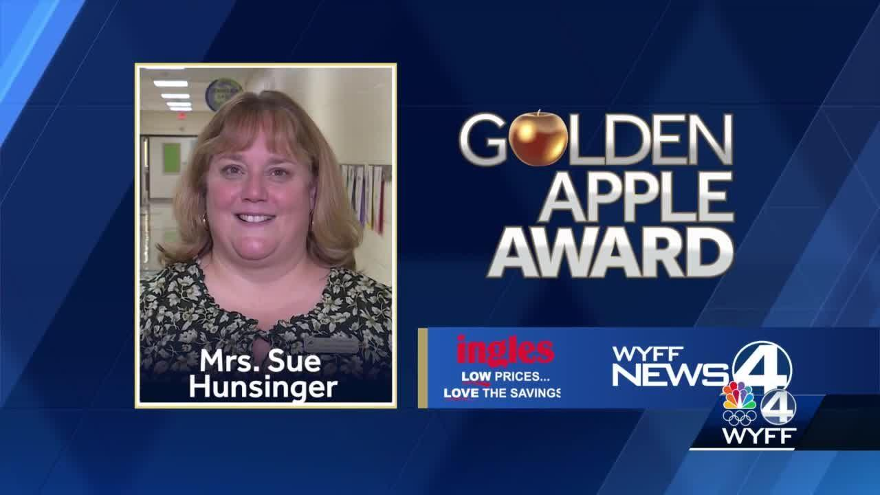 Sue Hunsinger wins Golden Apple Award