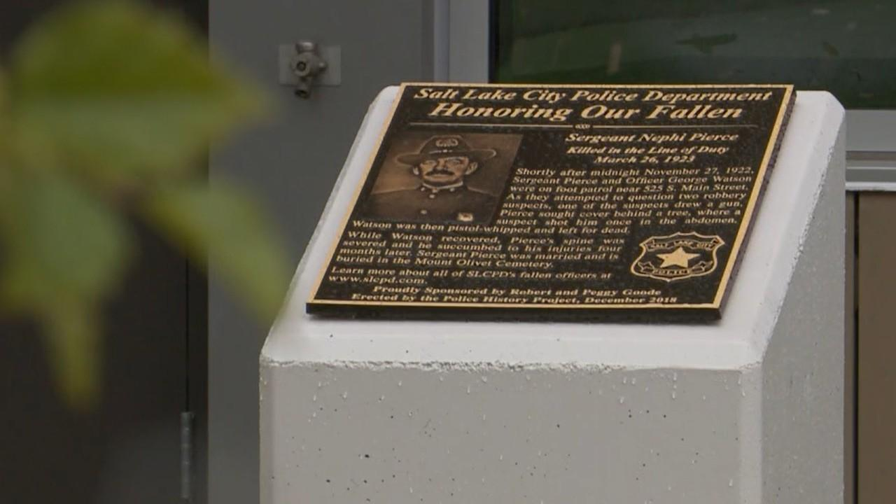 SLCPD honors fallen officer with plaque