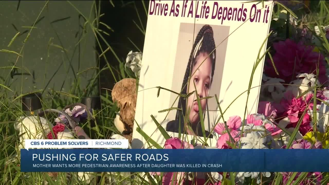 Richmond mother wants more pedestrian awareness after daughter was killed in crash