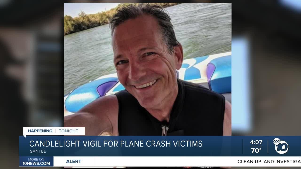 Vigil held to honor UPS  driver killed in Santee plane crash