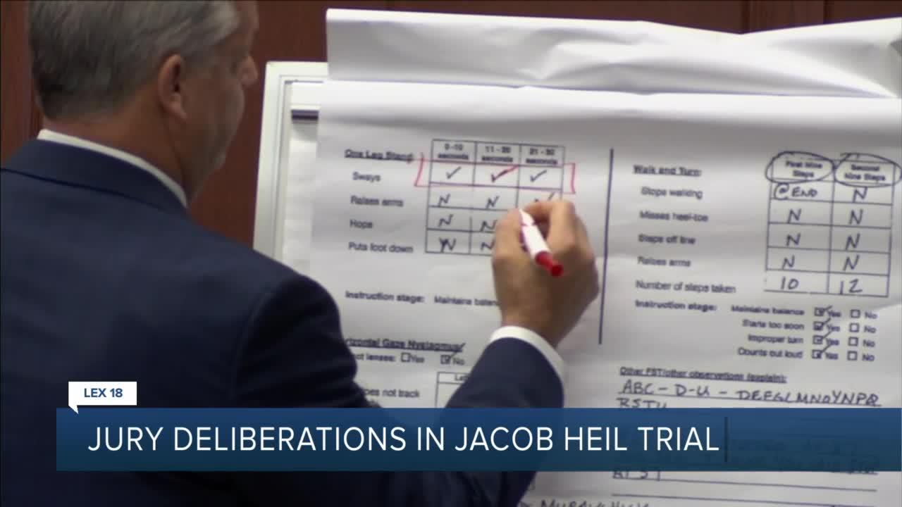 Jury deliberation in Jacob Heil trial
