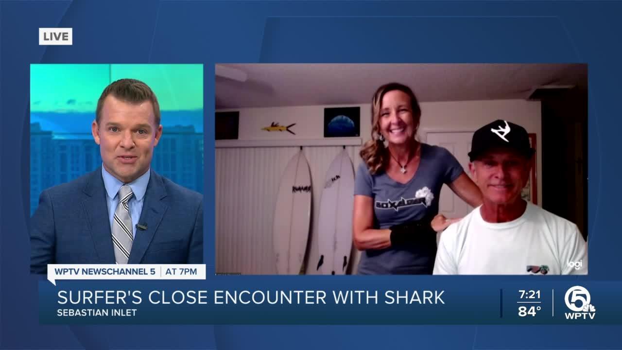 Surfer's close encounter