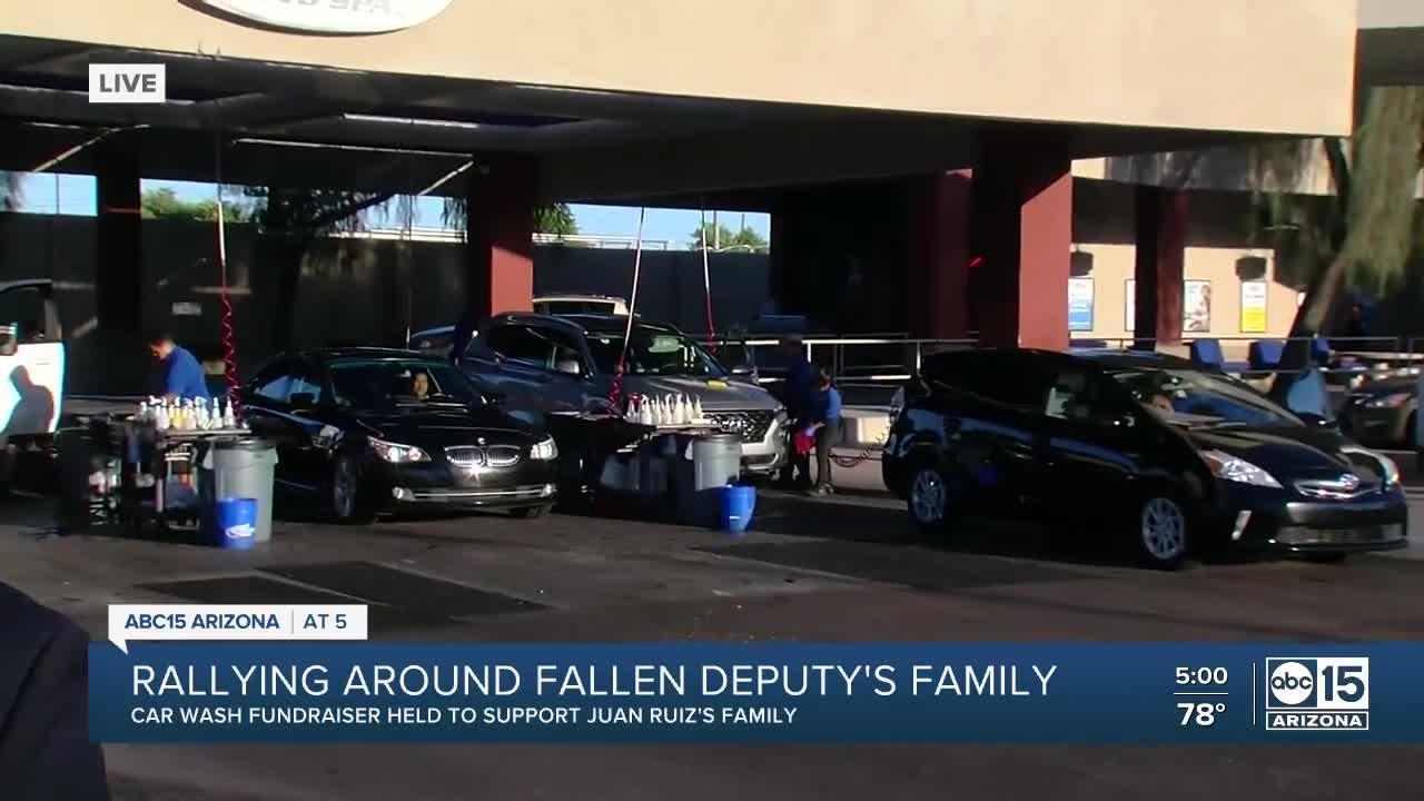 MCSO hosts car wash to raise money for family of Deputy Juan Ruiz