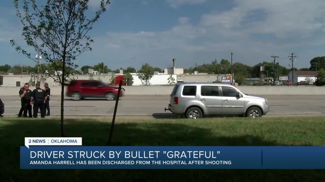 Driver grateful after getting shot on I-244 in Tulsa