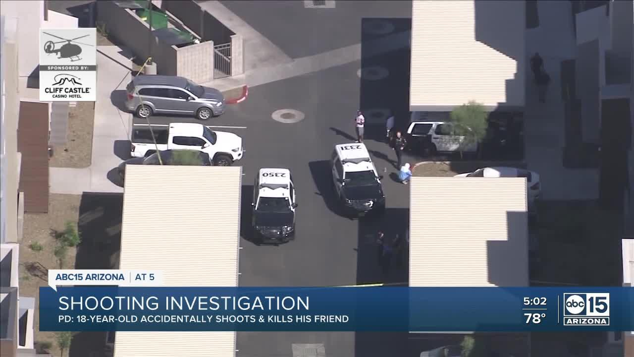 18-year-old 'accidentally' shot, killed by friend, Peoria officials say