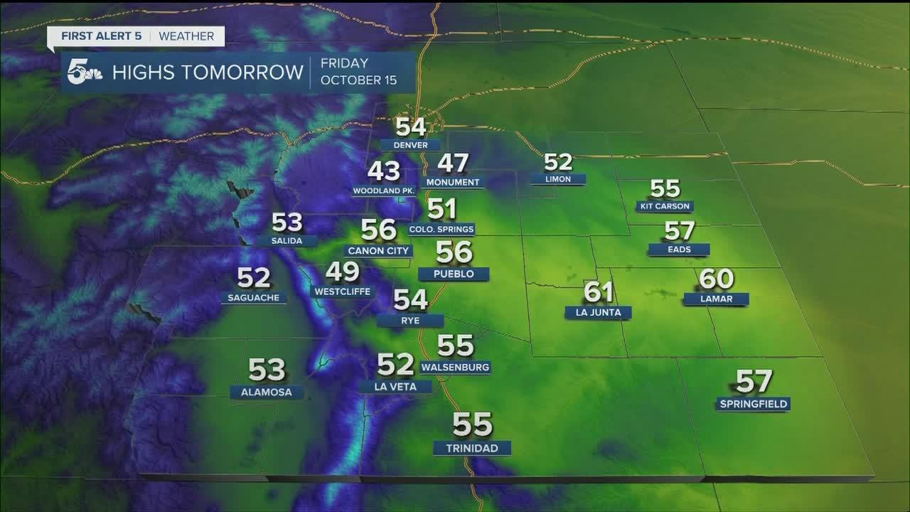 Possible rain and snow in southern Colorado