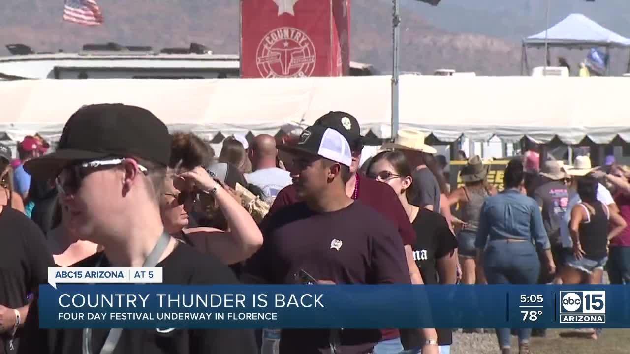 Country Thunder returns to Arizona following postponement